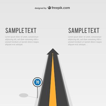 Plantilla de carretera con texto