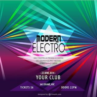Plantilla de cartel para fiesta con música electrónica