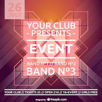 Plantilla de cartel para fiesta en discoteca