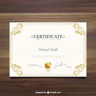 Plantilla de certificado ornamental