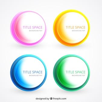 Plantilla de círculos de colores