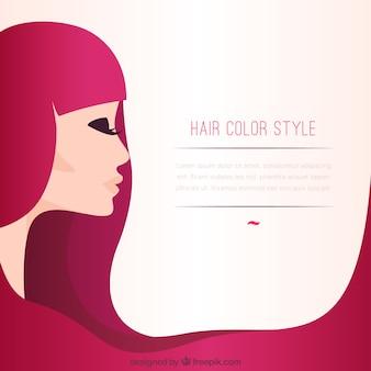 Plantilla de estilo de color de pelo