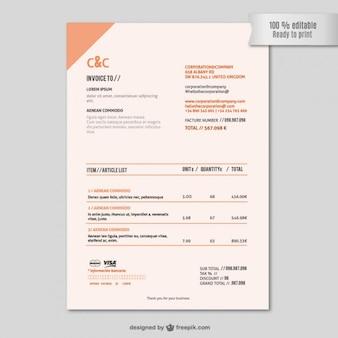 Plantilla de factura editable