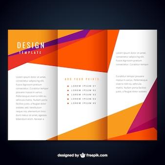 Plantilla de folleto colorido moderno