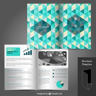 Plantilla de folleto con triángulos