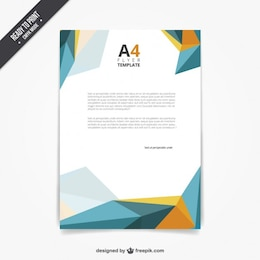 Plantilla de folleto en estilo poligonal
