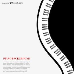 Plantilla de fondo de piano