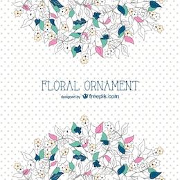 Plantilla de fondo floral