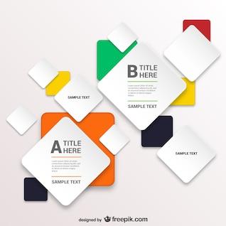 Plantilla de infografía con cuadrados