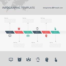 Plantilla de infografía de cronología