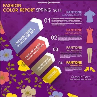 Plantilla de infografía de moda