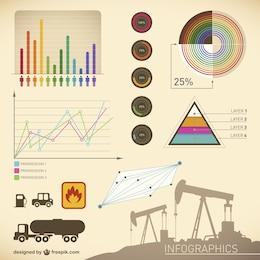 Plantilla de infografía de petróleo