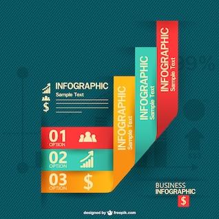 Plantilla de infografía en tres colores