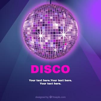 Plantilla de la bola disco