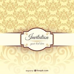 Plantilla de la invitación con patrón arabesco