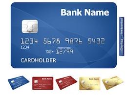 Plantilla de la tarjeta de crédito