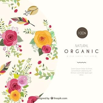 Plantilla de la tarjeta floral