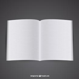 Plantilla de libro abierto