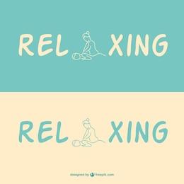 Plantilla de logo de masajes