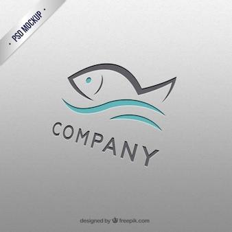Plantilla de logo de pez