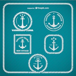 Plantilla de logos con anclas