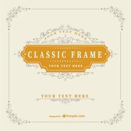 Plantilla de marco clásico