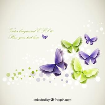 Plantilla de mariposas abstractas