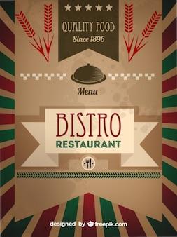 Plantilla de menú de restaurante bistro retro