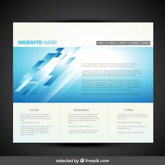 Plantilla de página web azul moderna