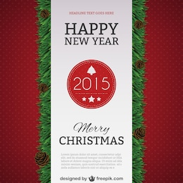 Plantilla de póster de Feliz Año Nuevo 2015