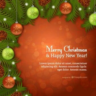 Marcos de navidad del vector descargar vectores gratis for Weihnachtskarte foto online
