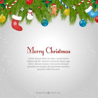 Plantilla de tarjeta de Navidad con texto