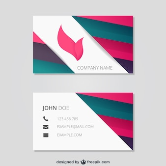 Plantilla de tarjeta de visita abstracta