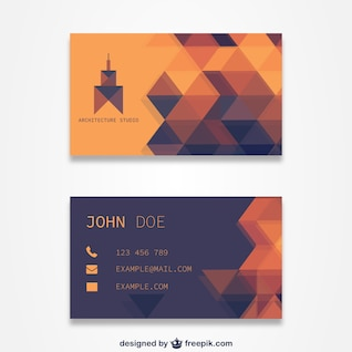 Plantilla de tarjeta de visita naranja