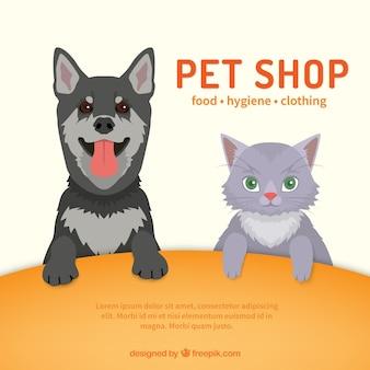 Plantilla de tienda de mascotas