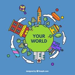 Plantilla de tu mundo