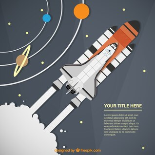 Plantilla de viaje espacial