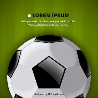 Plantilla del balón de fútbol