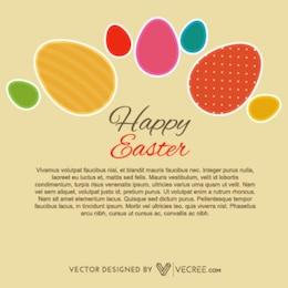 Plantilla elegante del huevo de Pascua caligráfico