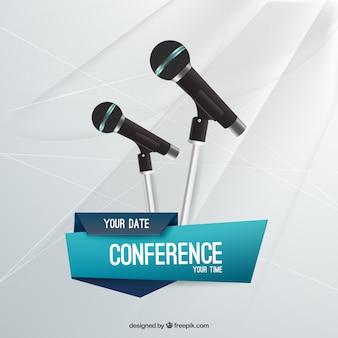Plantilla folleto de conferencia