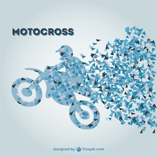 Plantilla retro de motocross