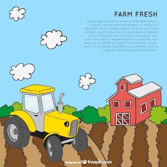 Plantilla temática de granja