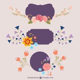 Plantillas con flores
