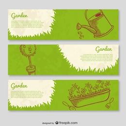 Plantillas de banner de jardinería