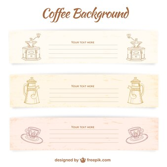 Plantillas de banners de café
