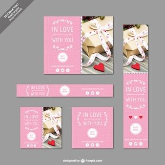 Plantillas de banners de San Valentín