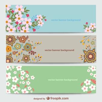 Plantillas de banners florales