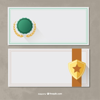 Plantillas de certificado paquete