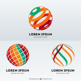 Plantillas de logos esféricos