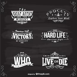 Plantillas de logotipo de estilo americano